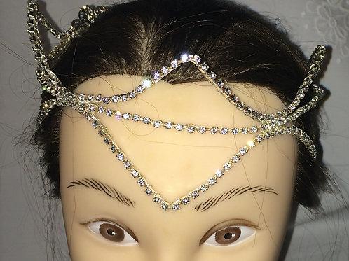 New Open Diamante Crown