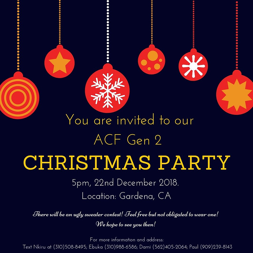 ACF Gen 2 Christmas Party