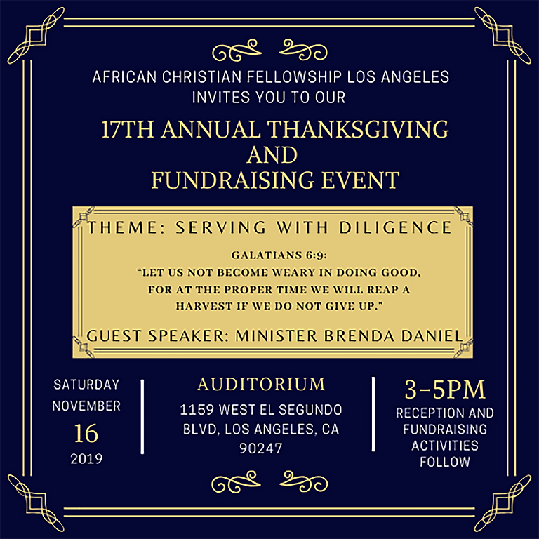 ACFLA 17th Annual Thanksgiving and Fundraising Celebration