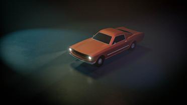 Mustang Low Poly