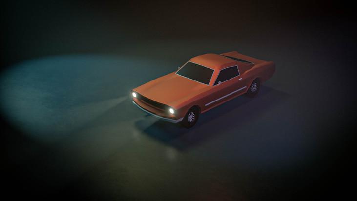 Mustang Low Poly First Render.jpg