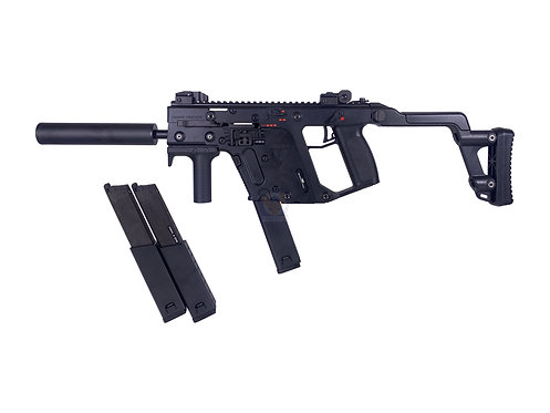 KWA Polymer Frame KRISS Vector GBB SMG Black with 2 Extra Magazines
