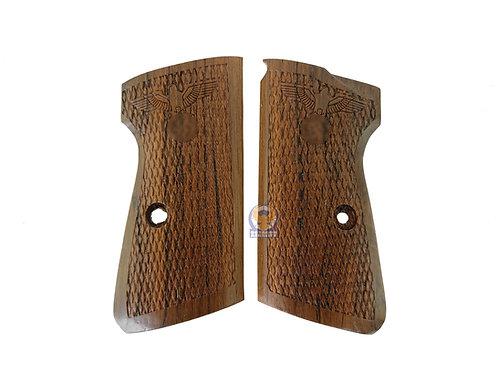 Kimpoi Maruzen PPKS Gas Pistol Nazi Style Real Wood Grip