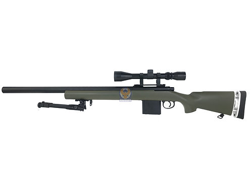 WELL MB-4404D M24 civilian ver PUBG Bolt Action Sniper Airsoft Rifle (Black)