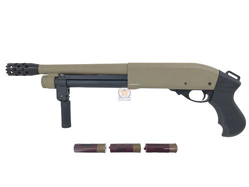 Golden Eagle 8876 M870 Super Shorty Gas 3/6 Shotgun (DE) (Minor Scratch)