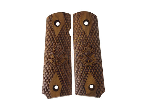 Kimpoi Springfield Hand Carved Wood Grip For M1911 Gas Pistol
