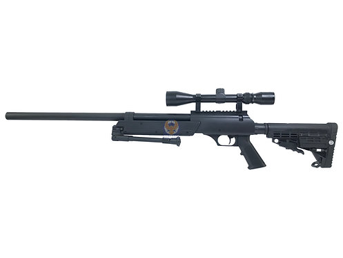 WELL MB-13 Enhanced SR-2 APS Bolt Action Airsoft Sniper Rifle (BK)