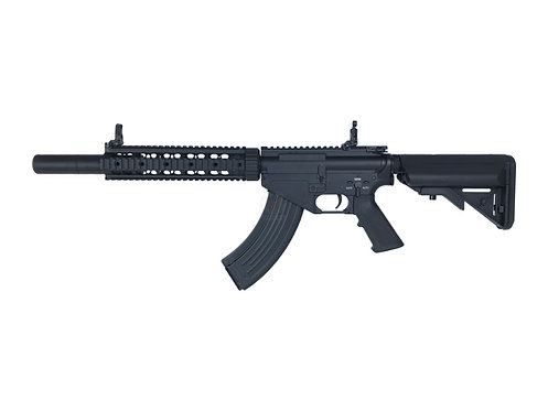 """CYMA CM.093A AR-47 10"""" Quad Rail w/ Suppressor Electric Airsoft AEG Rifle"""