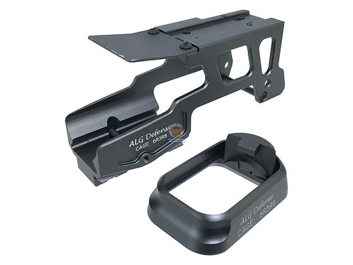 ALGD 6-S Style Glock Mount with Flared Magwell for AP T-1 red dot (BK)