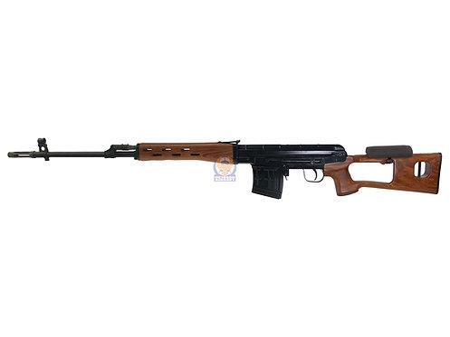 WE-Tech SVD Dragunov Airsoft Gas Blowback Sniper Rifle (Aluminum, Wood)