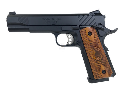 Army R27 Springfield M1911A1 GBB Pistol With Kimpoi Wood Grip (BK)