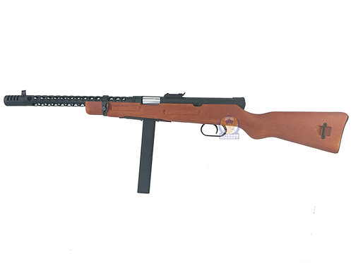 Snow Wolf M1938 WW2 Model / Modello 38A Real Wood  Airsoft AEG Sub-Machine Gun