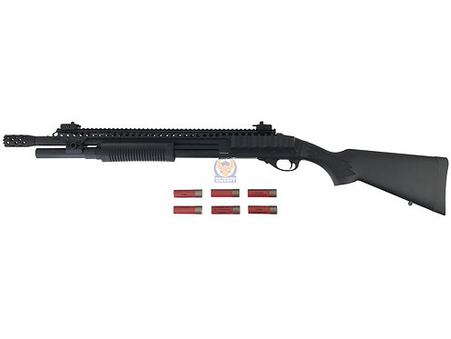 Golden Eagle 8872 K M870 Tactical Gas 3/6 Shot Pump Action Shotgun (BK)