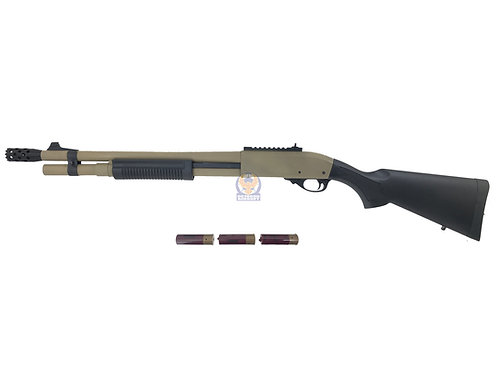 Golden Eagle 8872 M870 Gas 3/6 Shot Pump Action Shotgun (DE)