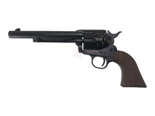 FCW x King Arms SAA .45 Peacemaker Airsoft Gas Revolver M 6 inches -Shinny Bla