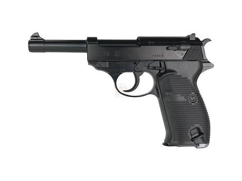 Flintlock Custom Workshop P38 GBB Pistol (BK) w/ custom marking (WE)