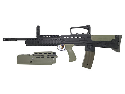 ARMY R85A2 L85 (SA80) with A1 Handguard Set Assault Rifle EBB (Black)