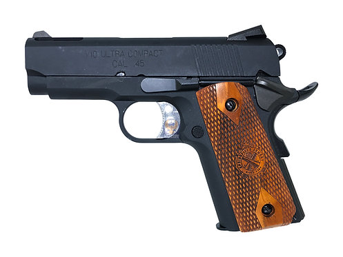FLW x AW / WE v10 ultra compact 1911 GBB Pistol (BK) with Springfield Wood Grip