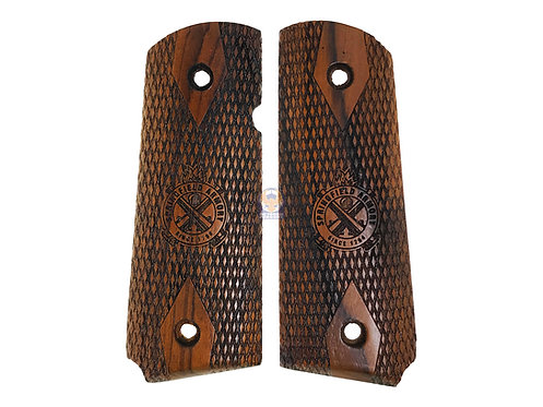 Kimpoi Hand Carved Wood Grip For WE/AW M1911 V10 Ultra Compact Pistol (SPF)