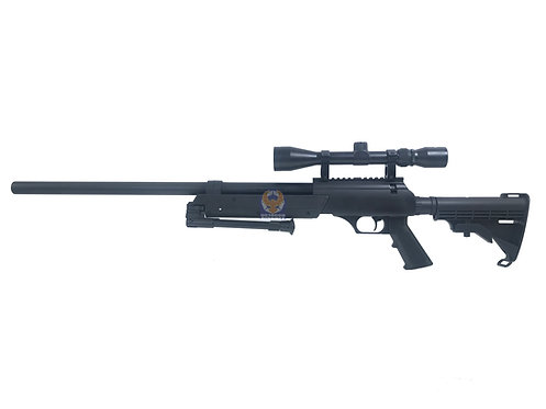 WELL MB-06 Enhanced SR-2 APS Bolt Action Airsoft Sniper Rifle (BK)