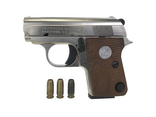 Marushin Colt .25 Heavy Weight Cap/Dummy Pistol (Nickel Finish)