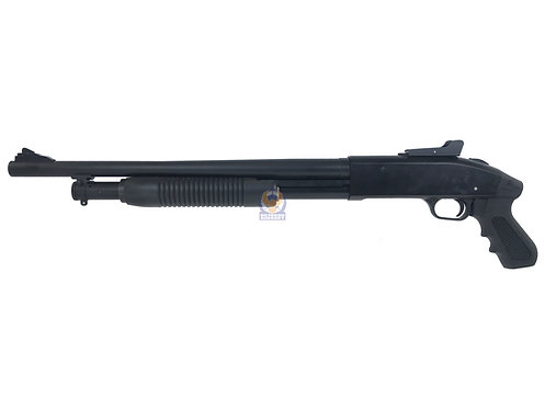 Tercel Mossberg M500 Gas Powered Pump Action Airsoft Shotgun Short Type 1(Black)