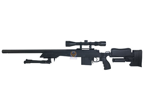 WELL MB-4413D M700 Tactical Bolt Action Sniper Airsoft Rifle (BK)