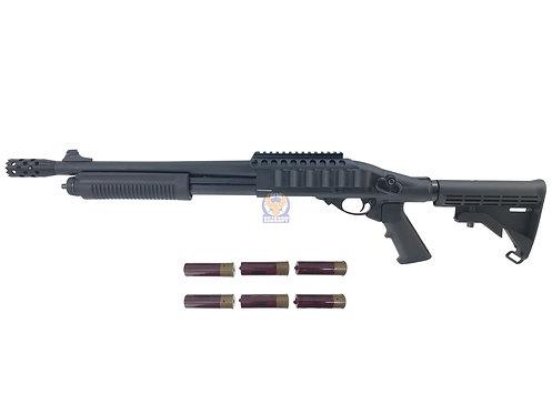Golden Eagle 8873 M870 RAS Shorty Gas 3/6 Shot Pump Action Shotgun (BK)