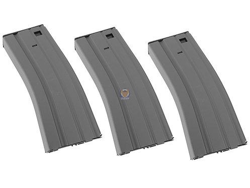 Classic Army P029M-BK3 300R Metal M4 M16 416 AR Hi-cap Magazine (3 pieces set)