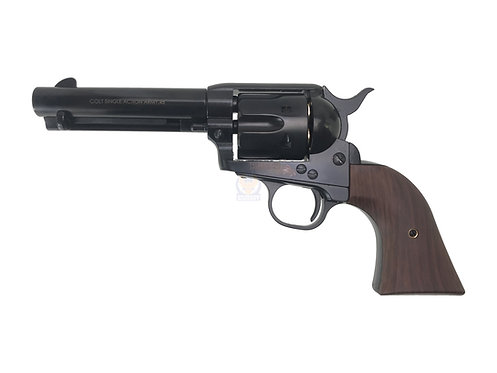 FCW x King Arms SAA .45 Peacemaker Airsoft Gas Revolver S 4 inches -Shinny Bla
