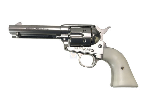 FCW x King Arms SAA .45 Peacemaker Airsoft Gas Revolver S 4 inches - Silver