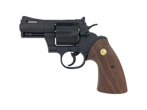 "FLW x King Arms 2"" Python 357 City Hunter Style Marking Gas Revolver - BK Custom"