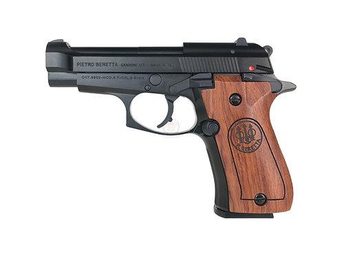 FCW x WE M84 GBB Pistol Airsoft W/ Custom Marking & Wood Grip BK