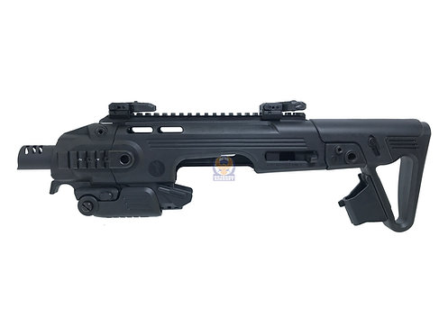 CAA RONI G1 Glock Pistol Carbine Conversion Kit for Airsoft Glock (Black)
