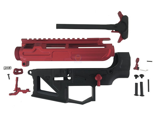 APS AER Milled Complete Full Metal M4 Receiver Set (Red, Black)