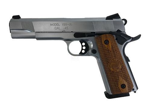 Army R27 Springfield M1911A1 GBB Pistol With Kimpoi Wood Grip (SV)