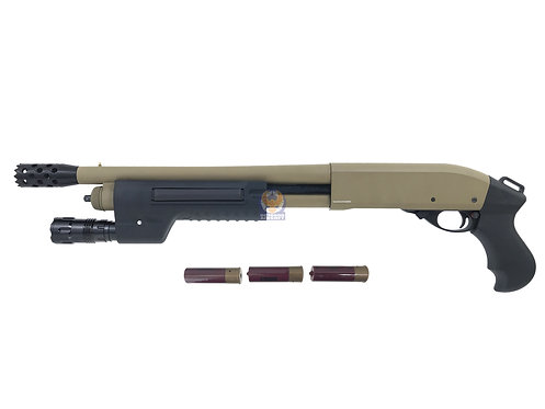 Golden Eagle 8881 DE M870 SF w/ G&P Flashlight Handguard Gas  Shotgun (DE)