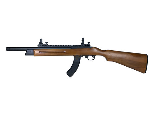 FCW x KJ Works KC02 Gas Blowback Rifle with Wood Stock and A1A Long mag (Ver. 2)