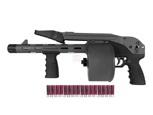 FCW Striker 12 Toy Gas Shotgun Airsoft Version Black Color Custom (APS shell)
