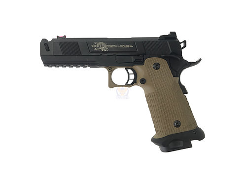 ARMY R501 High Capacity 5.1 Cost Style GBB Pistol with Full Marking Custom (DE)
