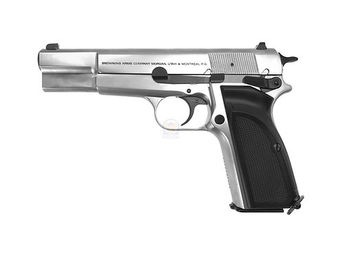 FCW x WE Browning Hi-Power MK3 MKIII GBB Pistol Airsoft W/ Custom Marking (SV)