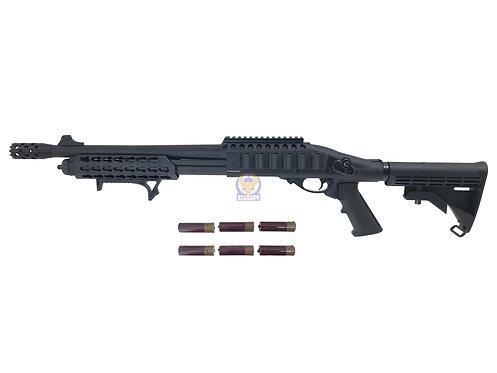 Golden Eagle 8873 K M870 RAS Shorty Gas 3/6 Shot Pump Action Shotgun (BK)