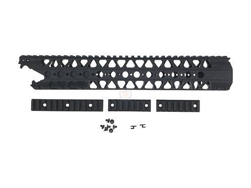 "FCW ADWC 13.2"" CNC Alum AR Rail handguard BK"