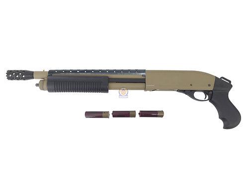 Golden Eagle 8881 DE Heat Shield M870 SF Gas 3/6 Shot Pump Action Shotgun (DE)
