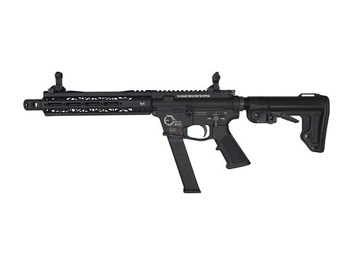 King Arms TWS 10 inches M Lok 9mm Carbine GBBR BK