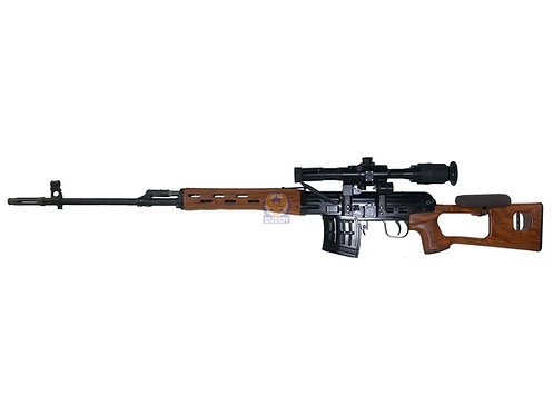 WE-Tech SVD Dragunov Airsoft Gas Blowback Sniper Rifle with Scope(Aluminum,Wood)