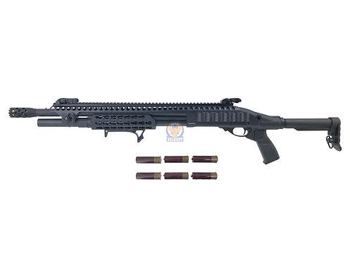 Golden Eagle 8875 M870 KeyMod Long Gas 3/6 Shot Pump Action Shotgun (BK)