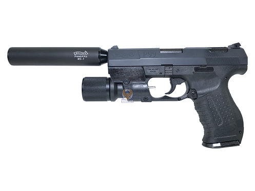 Maruzen P99 Fixed Slide (NBB) with Silencer and light的副本