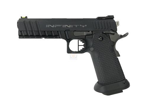 AW Custom HX2033 Black Ace Hi-Capa GBB Pistol with INFINITY Marking Custom