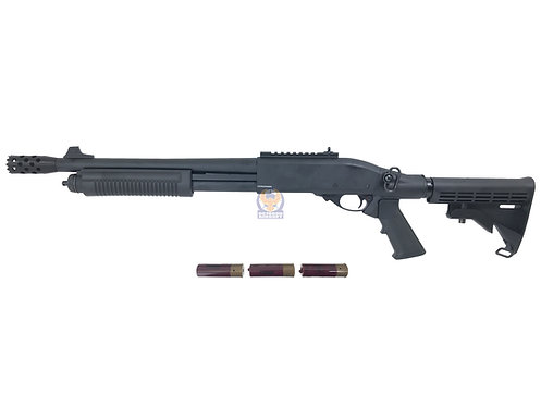 Golden Eagle 8871 M870 RAS Shorty Gas 3/6 Shot Pump Action Shotgun (BK)